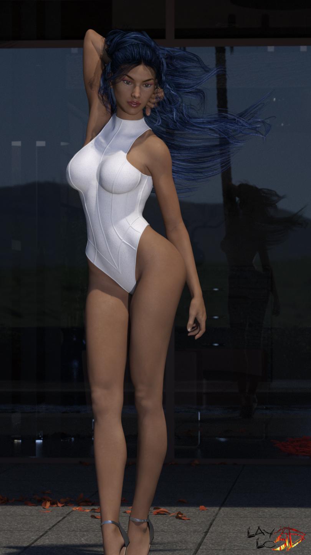 Ribbed Superhero Bodysuit for Genesis 3 Female(s) – LayLo 3D